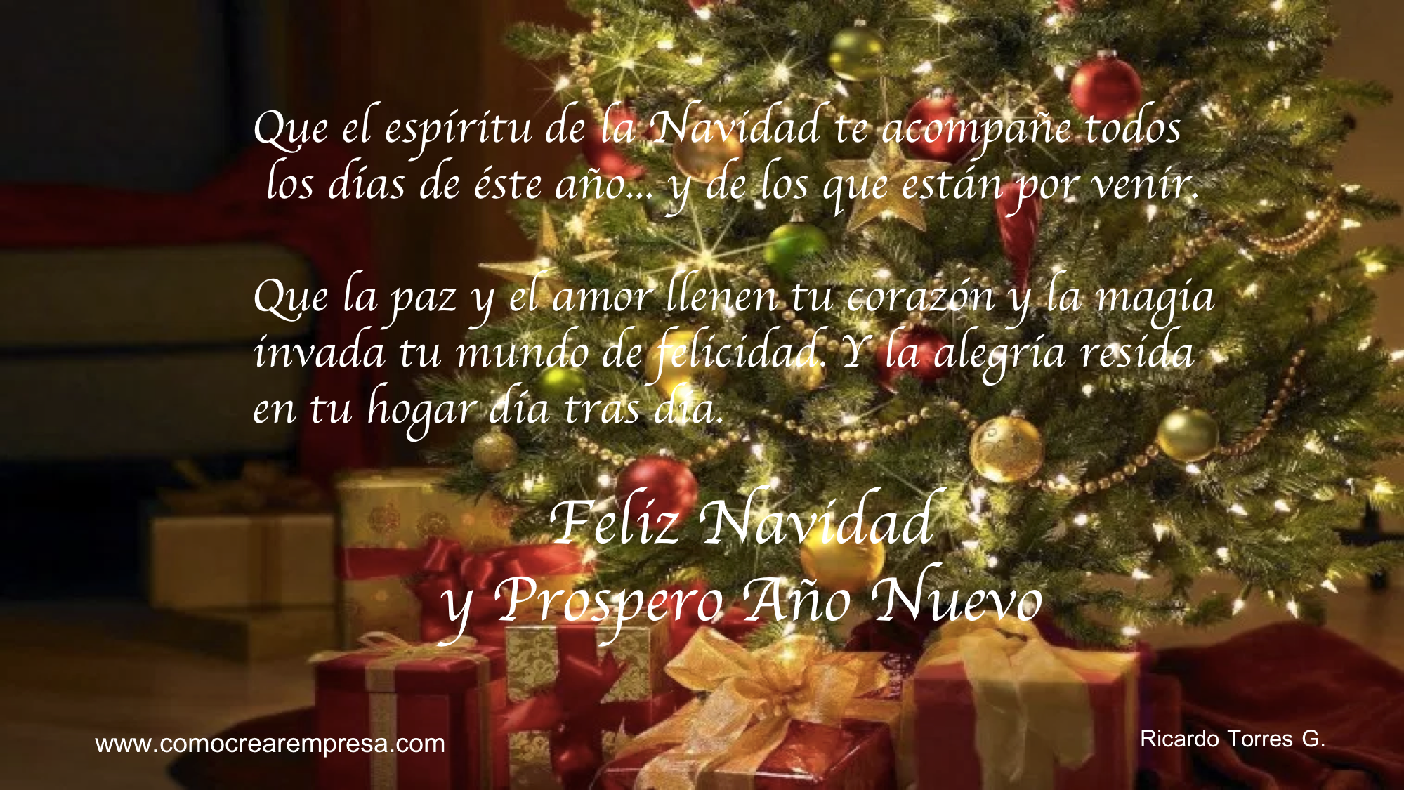 [Vídeo] Feliz Navidad y Prospero Año Nuevo